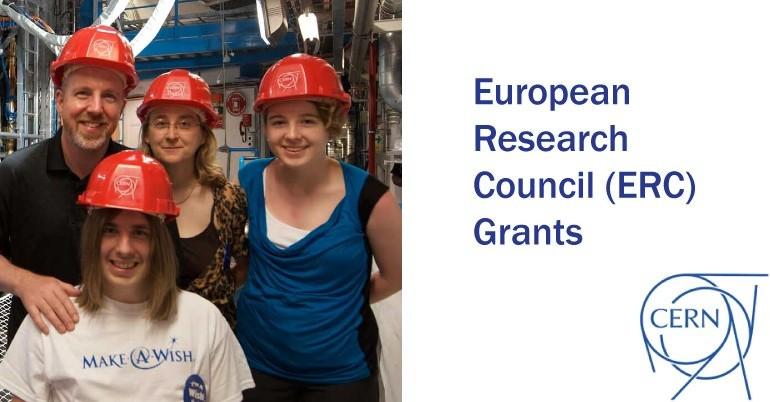 The CERN European Research Council (ERC) grants